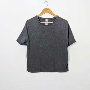 Go Couture Gray Pocket Short Sleeve T Shirt NWOT